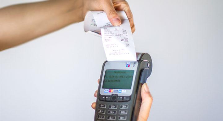Terminal para cobrar con tarjeta de crédito