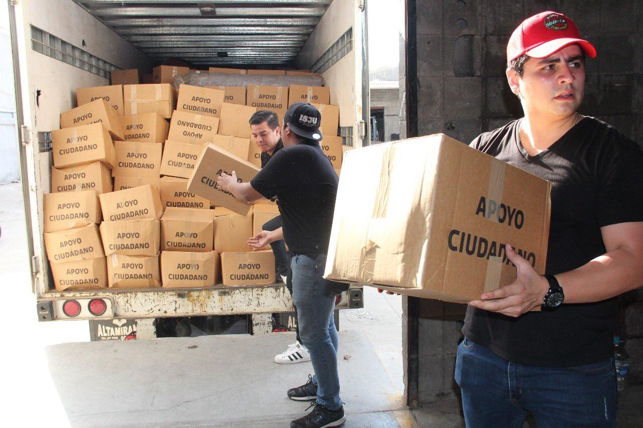 Envía DIF Nacional toneladas de apoyo ciudadano a Sinaloa, Sonora y Michoacán.