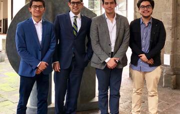 Omar Bielma, Emerson Segura y Rafael Zamora; miembros del Programa de Jóvenes del Consejo Mexicano de Asuntos Internacionales.