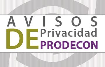 PRODECON, avisos de Privacidad