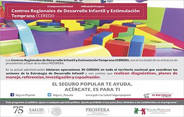 Los Centro Regionales de Desarrollo Infantil y Estimulación Temprana, un esfuerzo a favor de la niñez.