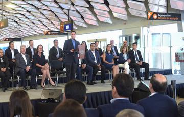 Presidente Enrique Peña Nieto durante la entrega de la ampliación de instalaciones del Aeropuerto Internacional de Guanajuato