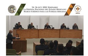 Militares de la Secretaría de la Defensa Nacional en reunión en tribunal.