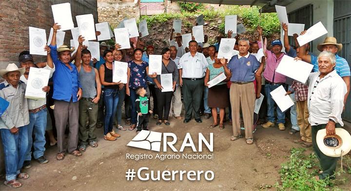 Entrega de documentos agrarios a ejidatarios por parte del Registro Agrario Nacional (RAN) en el estado de Guerrero #JornadasItinerantes