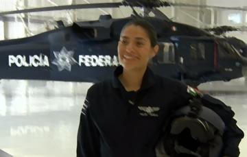 Integrante de la Coordinación de Operaciones Aéreas de la Policía Federal
