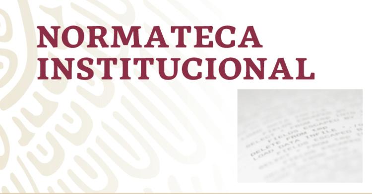 Imagen con texto de Normateca Institucional