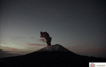 Reporte del monitoreo de CENAPRED al volcán Popocatépetl hoy 8 de octubre