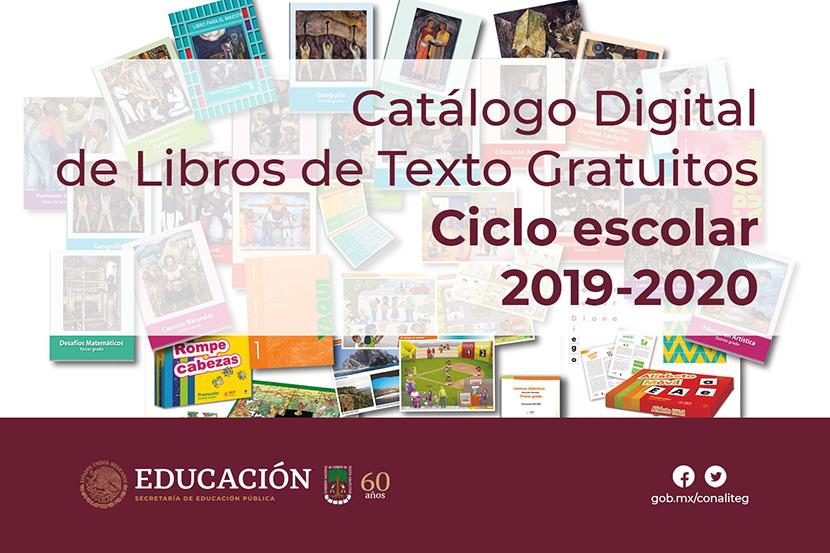 Catálogo Digital de Libros de Texto Gratuitos  ciclo escolar 2018 - 2019