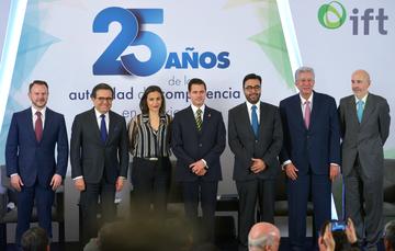 """El Presidente, Enrique Peña Nieto, clausuró los trabajos de la """"Jornada por la Competencia 2018: 25 Años de la Autoridad de Competencia en México"""", organizada por la Comisión Federal de Competencia Económica, y el Instituto Federal de Telecomunicación."""