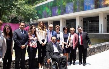 Alan Cruz Porchini, del INDAABIN,  Directora General del CONADIS; la Titular del CONAPRED, la Titular de la Coordinación de Estrategia Digital Nacional de Presidencia de la República.
