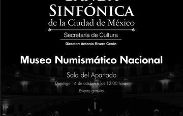 Banda Sinfónica de la Ciudad de México, dirección Antonio Rivero Cerón