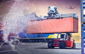 Medios de transportes para comercio exterior junto con contenedores