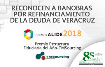 Banobras recibió dos premios por la implementación de un innovador esquema financiero para la reestructuración de la deuda del Estado de Veracruz