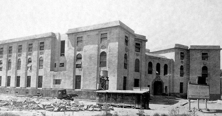 Vista lateral del edificio de Lieja, sede de la Secretaría de Salud.