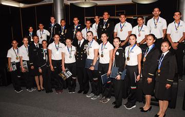 La Secretaría de Marina-Armada de México reconoce a los atletas navales por su destacada participación en los Juegos Centroaméricanos y del Caribe Barranquilla, Colombia 2018