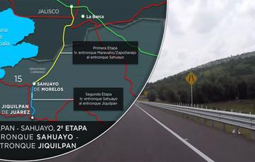 La segunda etapa de la carretera Jiquilpan-Sahuayo une a los estados de #Michoacán y #Jalisco beneficiando a los productores agrícolas, avícolas y porcinos, ubicados en ambos lados del Río Santiago.