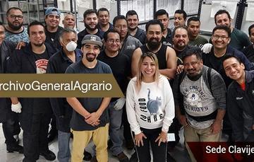 Destacada Equipo de trabajo del Archivo General Agrario (AGA).