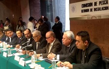 Acto formal de Instalación de la Comisión de Pesca de la Cámara de Diputados, celebrada en el recinto legislativo de San Lázaro