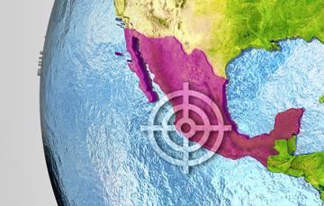 Mapa que señala a México como eje principal