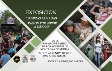 Imágenes de la exposición militar.
