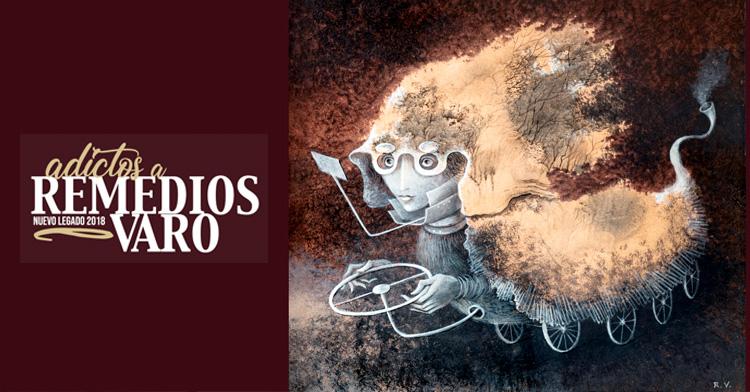 Banner de la exposición Adictos a Remedios Varo Nuevo Legado 2018