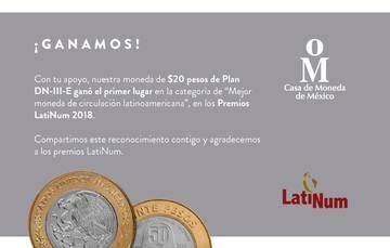 Mejor Moneda de Circulación Latinoamericana 2018, Plan DN-III-E