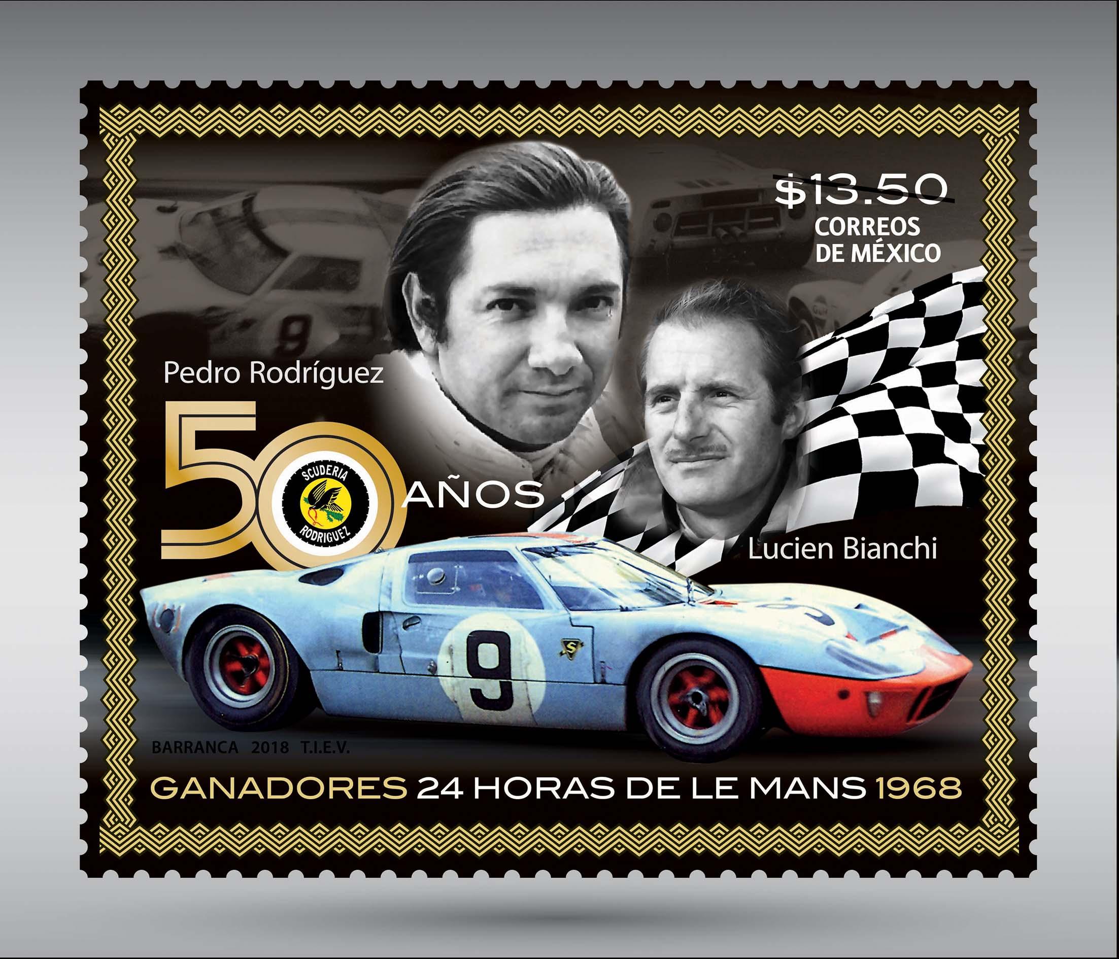 Sepomex recuerda a Pedro Rodríguez a 50 años de su victoria en Le Mans
