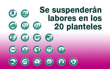 imagen de los 20 logotipos de los planteles