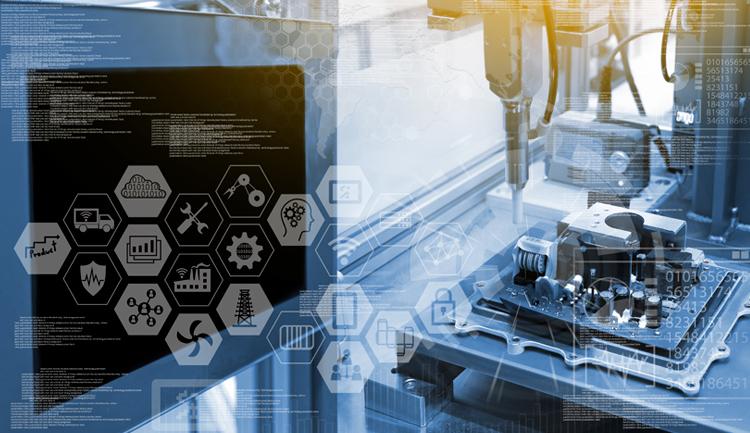 Imagen con elementos tecnológicos y digitales haciendo alusión al Premio Nacional de Tecnología e Innovación (PNTI)