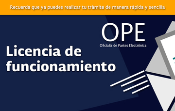 Imagen relativa a la licencia de funcionamiento en la OPE
