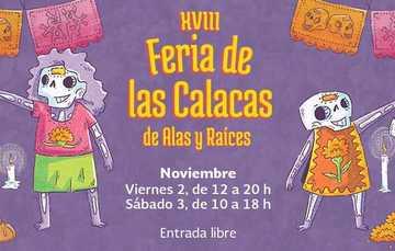 Banner de la XVIII Feria de las Calacas, en el  Centro Nacional de las Artes