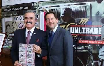 La Lotería Nacional para la Asistencia Pública (LOTENAL) develó el billete del Sorteo de Diez No. 209, conmemorando el 30° Aniversario del Grupo UNI-TRADE