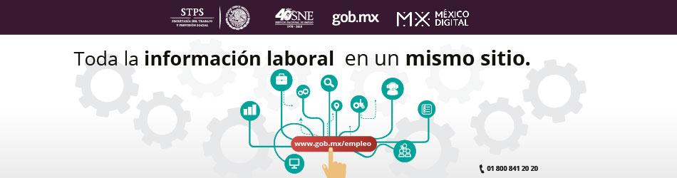 Banner con imagen de diferentes símbolos para ilustrar la nueva Plataforma del Servicio Nacional de Empleo