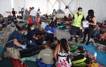 Atiende DIF Nacional a niñas, niños y adolescentes de la caravana migrante.