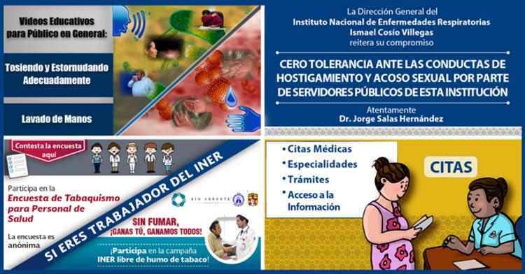Programa de influenza, cero tolerancia, encuesta de tabaquismo y transparencia focalizada.