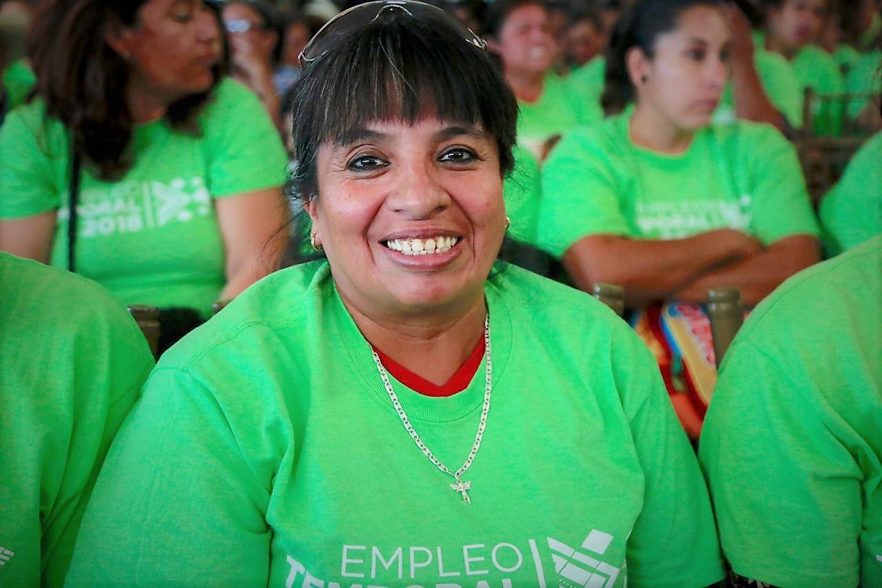 Mujer beneficiaria de programas sociales en Coahuila