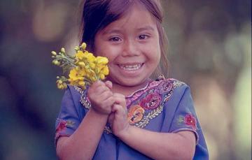 Retrato de niña indígena