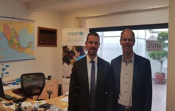 RENAPO continúa con los esfuerzos de coordinación para el cumplimiento de objetivos, entre UNICEF y RENAPO