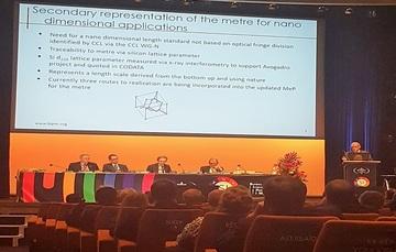 En la 26ª. Conferencia General sobre Pesas y Medidas (CGPM)