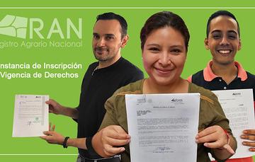 Ejidatarios con su Constancia de Inscripción y Vigencia de Derechos.
