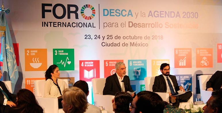 El Foro estuvo conformado por una conferencia magistral y nueve mesas temáticas relacionadas con los Objetivos del Desarrollo Sostenible.