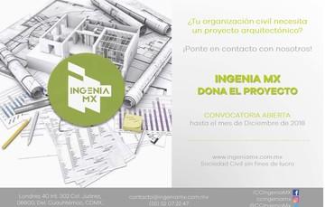 Ingenia Mx te invita a participar en la convocatoria para realizar un proyecto arquitectónico