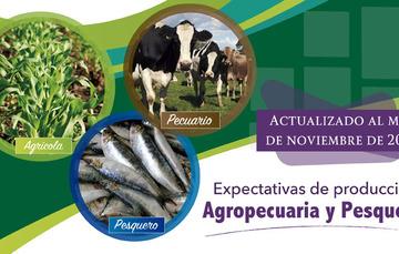Al mes de noviembre, la expectativa de producción nacional agropecuaria y pesquera para 2018 es de 225 millones de toneladas*