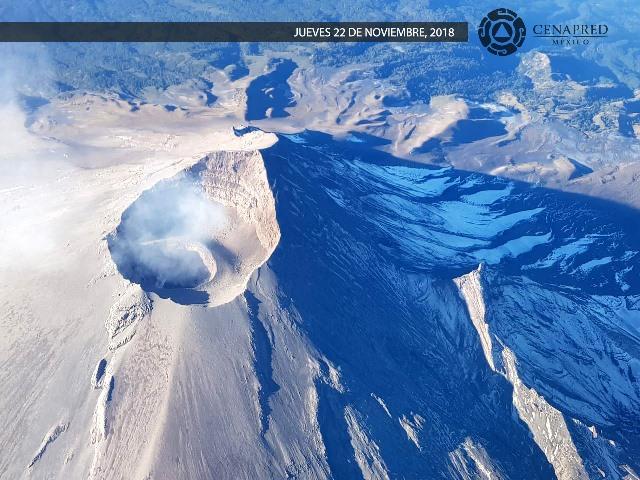 sobrevuelo del volcán popocatépetl