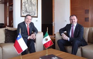 El Canciller Luis Videgaray Caso sostuvo reunión bilateral con su homólogo chileno, Roberto Ampuero