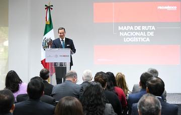 Paulo Carreño, director general de ProMéxico, durante la presentación del MRNL