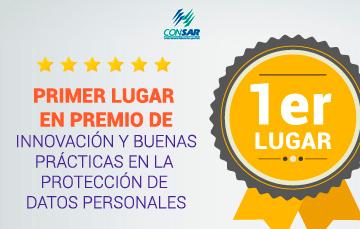 Recibe CONSAR primer lugar en premio de innovación y buenas prácticas en la protección de datos personales.