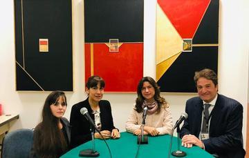 Lismari López, Fiorella Ormeño, Natalia Saltalamacchia y Pedro Keuroglian.