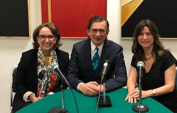 Rebeca Grynspan,  Agustín García-López Loaeza y Natalia Saltalamacchia