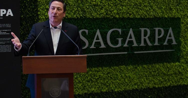 Fotografía del Secretario de la SAGARPA: Baltazar Hinojosa